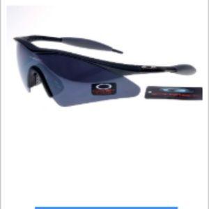 Cheap Oakley M Frame Sunglasses Darkblue Lens Dark